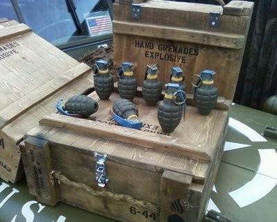 Hand grenade stencil set for re-enactors ww2 army Jeep prop