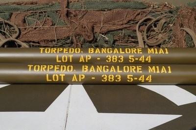 Bangalore torpedo tubes stencil set for re-enactors ww2 army Jeep prop