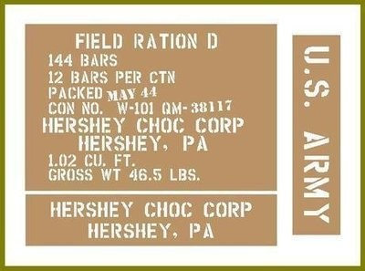 D Ration Hersheys crate stencils inc plans to build stencil set for re-enactors ww2 army Jeep prop