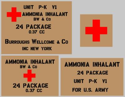Medical Ammonia stencil set (med 4) stencil set for re-enactors ww2 army prop