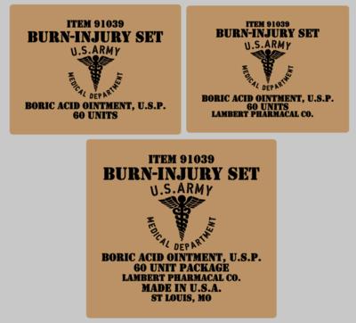 Medical stencil set (med 8) stencil set for re-enactors ww2 army prop