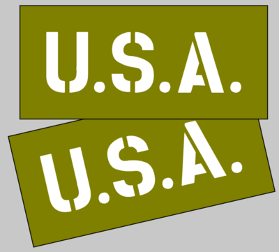 Jeep dodge GMC Bonnet / U.S.A stencil wartime ww2 military Vehicle