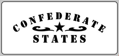Confederate States stencil American Civil war (F) stencil set for re-enactors prop