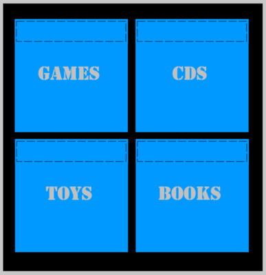 IKEA Drona Storage Box Kallax Shelving Unit and Expedit Book Shelf Toy Boxes Stencils