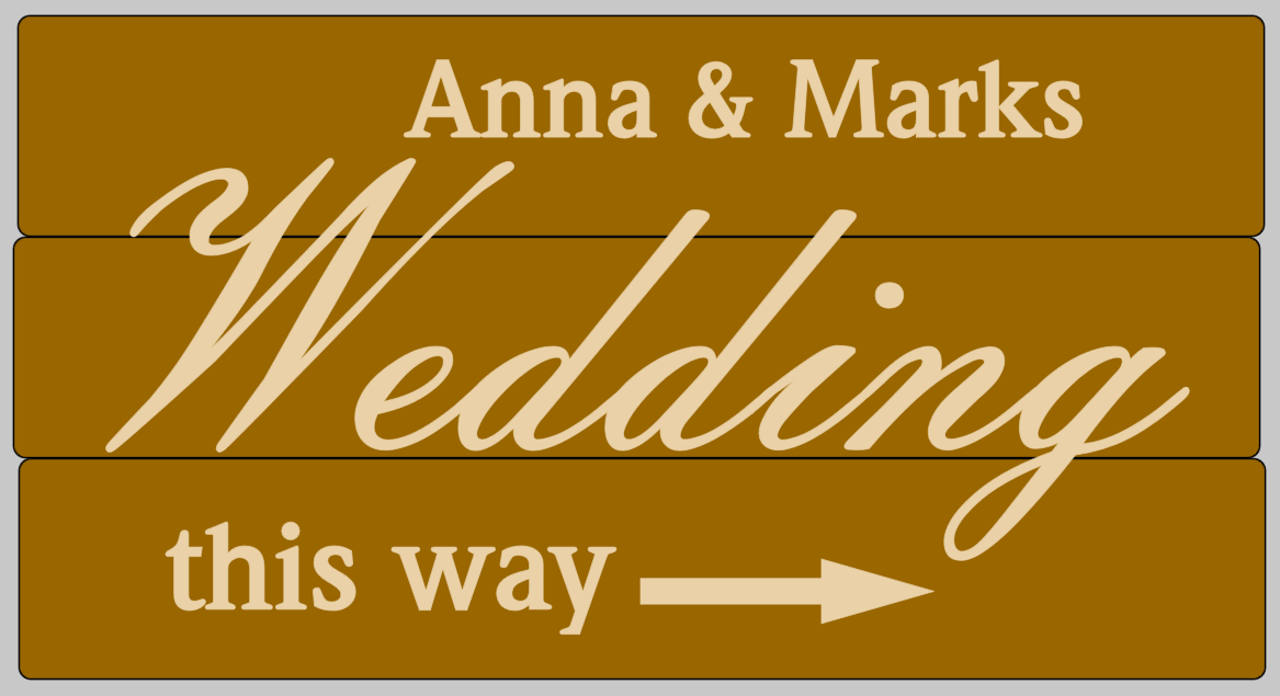 Wedding this way stencil, custom made to your names shabby chic pallet DIY