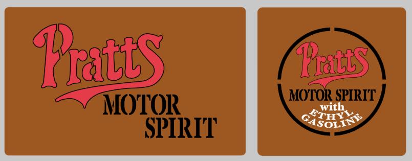 Pratts Motor Spirit stencil