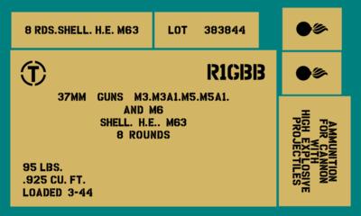 37mm ammo shell box stencil set (Mk1)