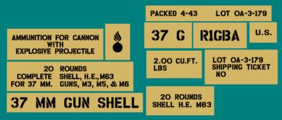 37mm ammo shell box stencil set (Mk3)