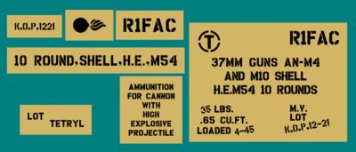 37mm ammo shell box stencil set (Mk2)