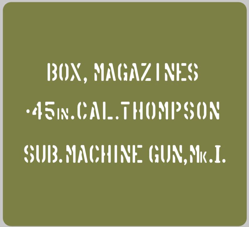 45 Cal Thompson Ammo Can Stencil