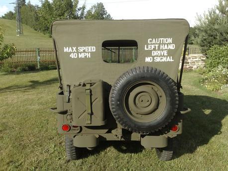 Jeep Canvas Hood stencil Set ww2 war army
