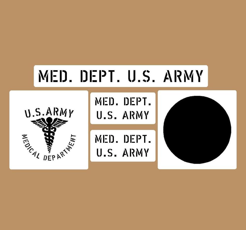 Medical stencil set (med 1)