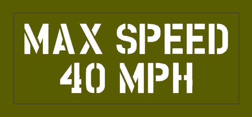 Max Speed stencil