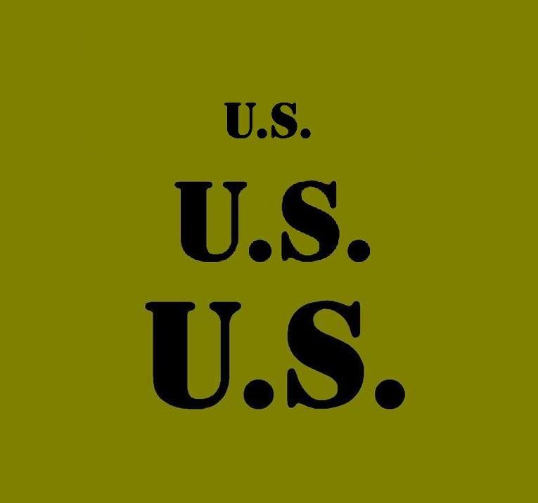 U.S. stencil set for reenactors ww2 army prop kit