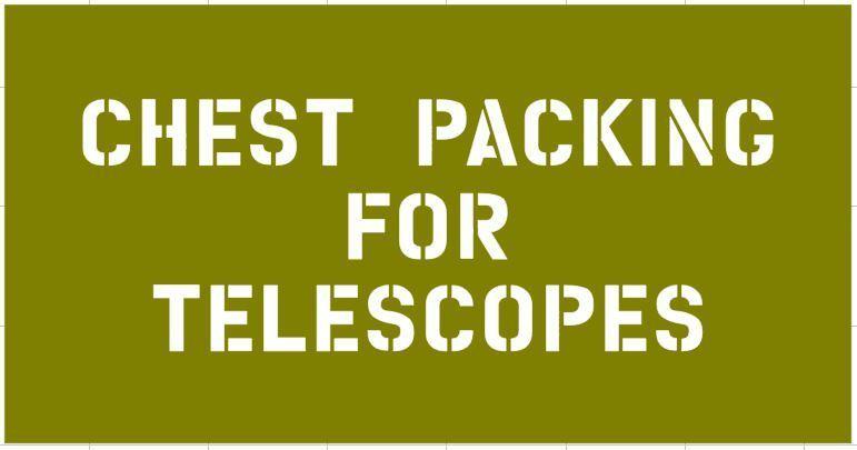 Telescope box stencil for reenactors ww2 army prop