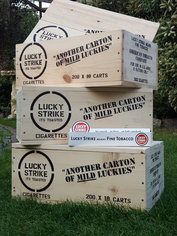 Lucky Strike crate stencil set