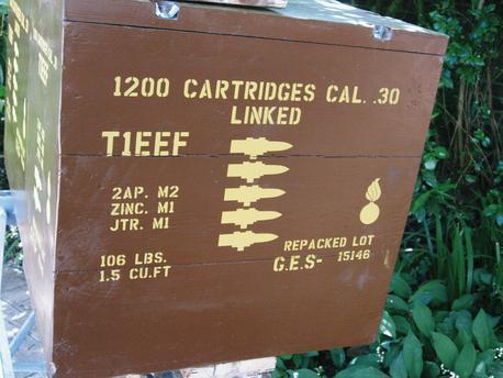 30 Cal linked ammo box stencil set for reenactors ww2 army Jeep prop