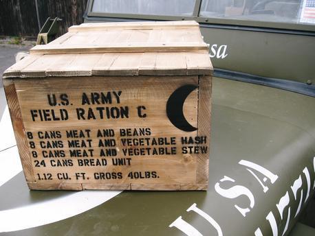 C Ration crate stencils inc plans to build stencil set for reenactors ww2 army Jeep prop