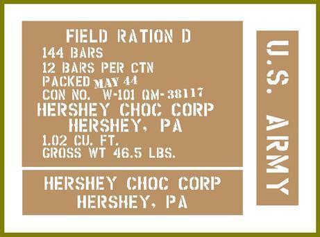 D Ration Hersheys crate stencils inc plans to build stencil set for reenactors ww2 army Jeep prop