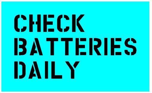 Check battery stencil for Jeep dodge GMC