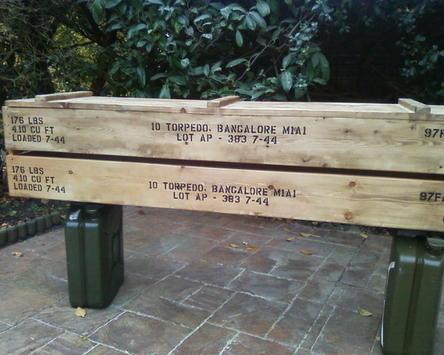 Bangalore torpedo crate stencil set for reenactors ww2 army Jeep prop