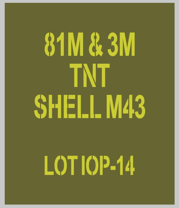 81mm mortar Shell stencils for reenactors ww2 army Jeep prop