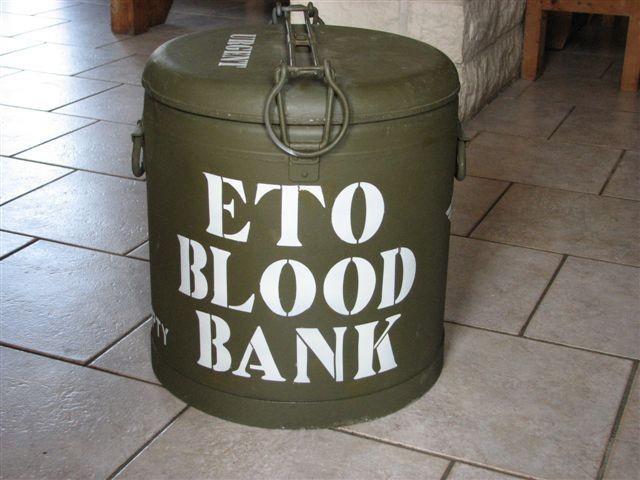 ETO Blood bank Marmite container stencil set for reenactors ww2 army medical prop