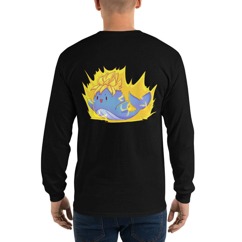 Saiyan Whale Long Sleeve T-Shirt