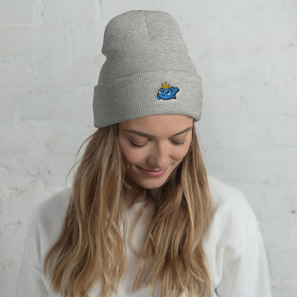 Crown Whale Cuffed Beanie