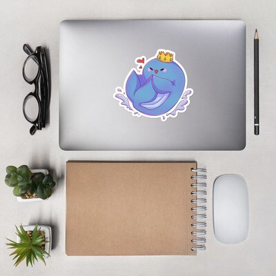 Cute Whale Bubble-free stickers