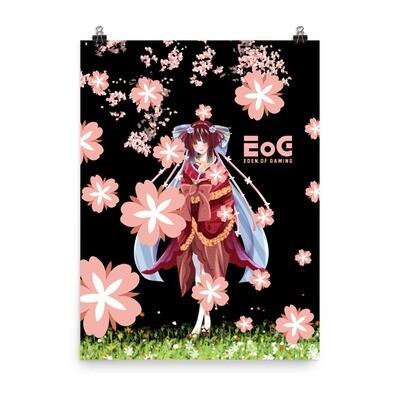 Kimono Shar Sakura Poster