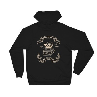 School of Whales 100% Cotton Unisex Fleece Hoodie