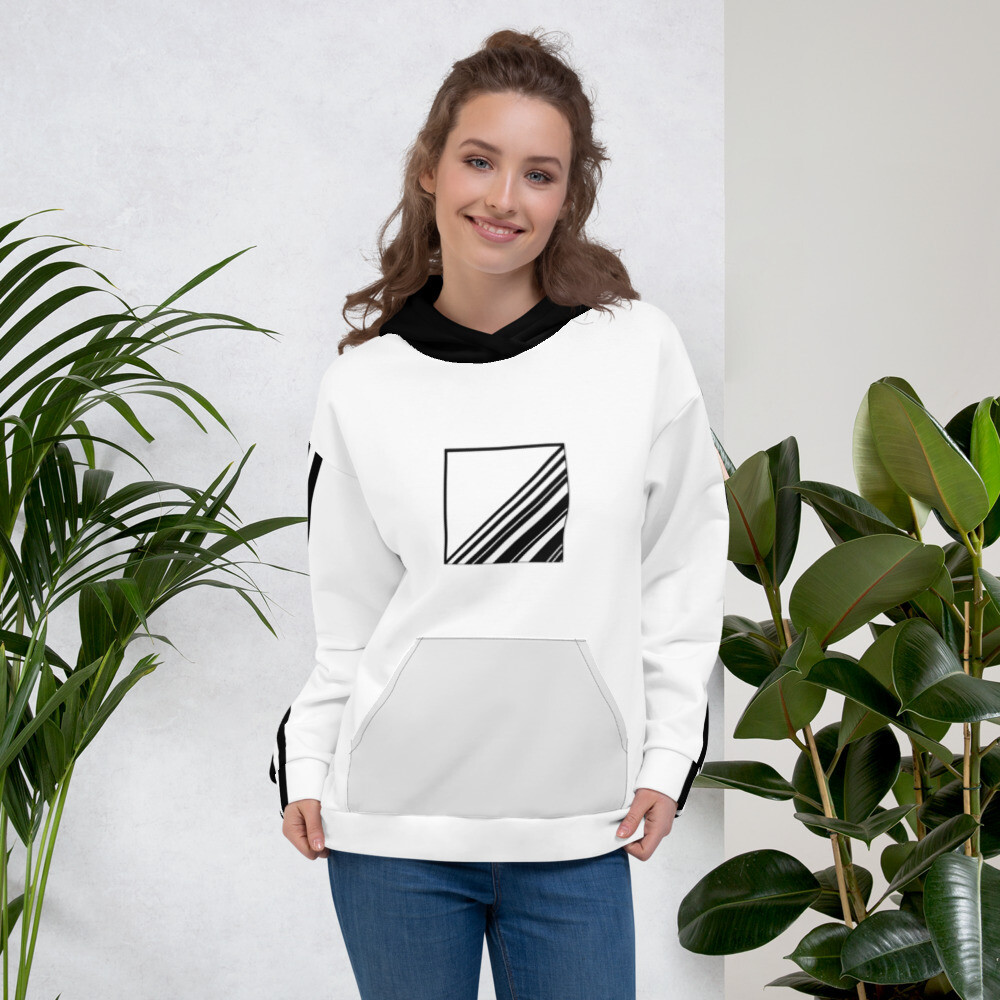 Striped All Over Print Unisex Hoodie