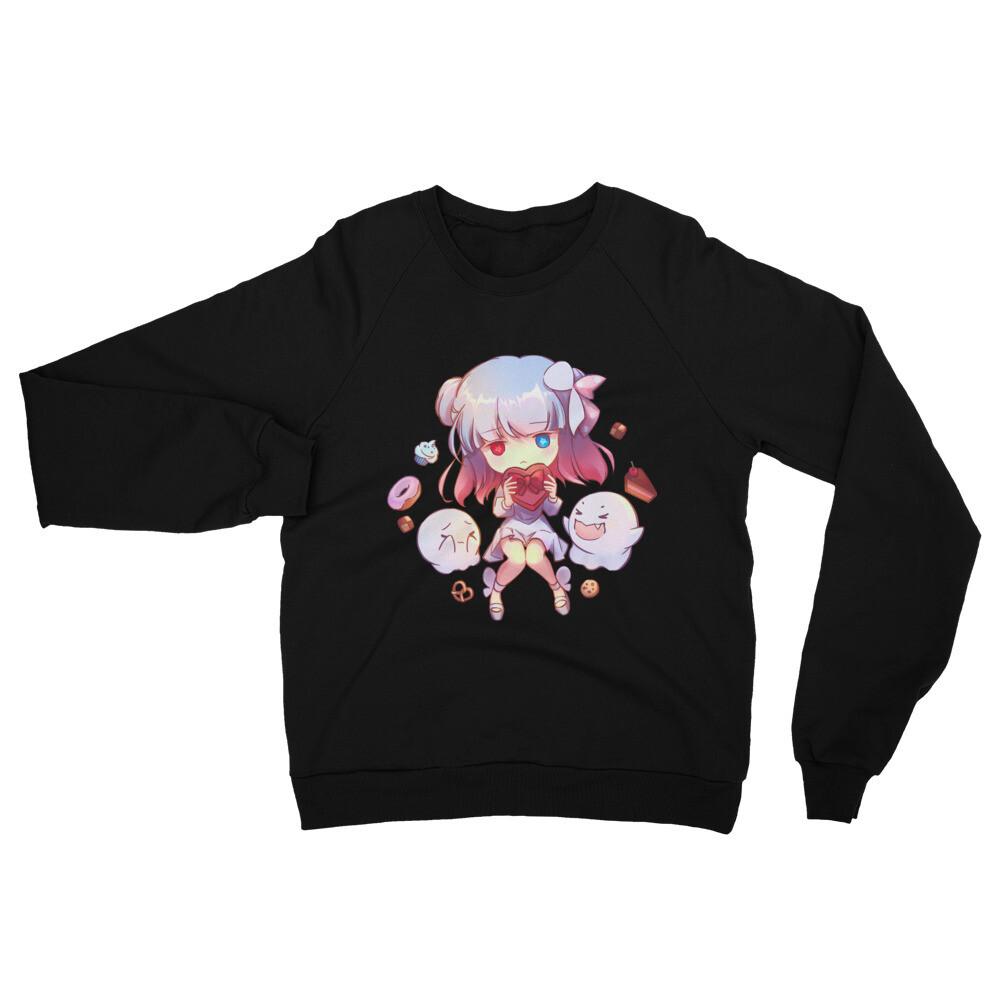 Alice Ghost Unisex California Fleece Raglan Sweatshirt