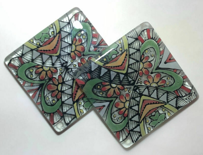 Green Pattern Coasters