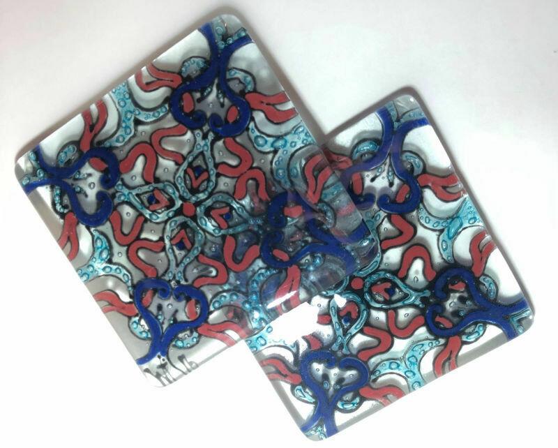 Blue Pattern Coasters