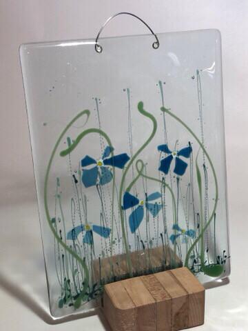 Blue Confetti Flowers