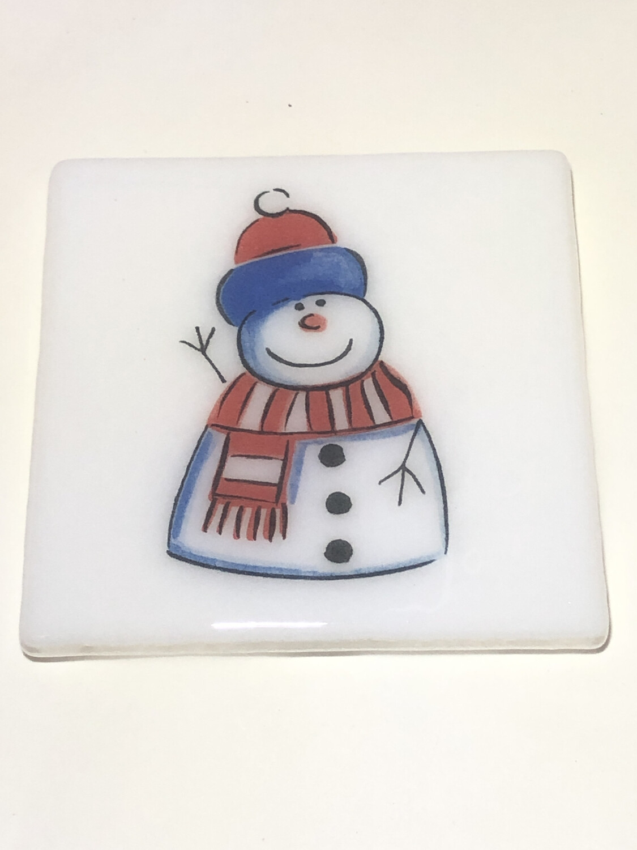 Happy Snowman Coaster