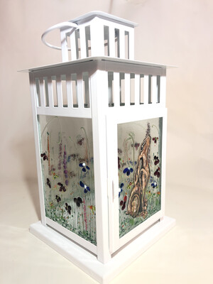 Hare & Flowers Lantern