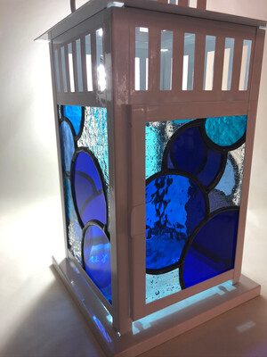 Stained Glass Blue Circles