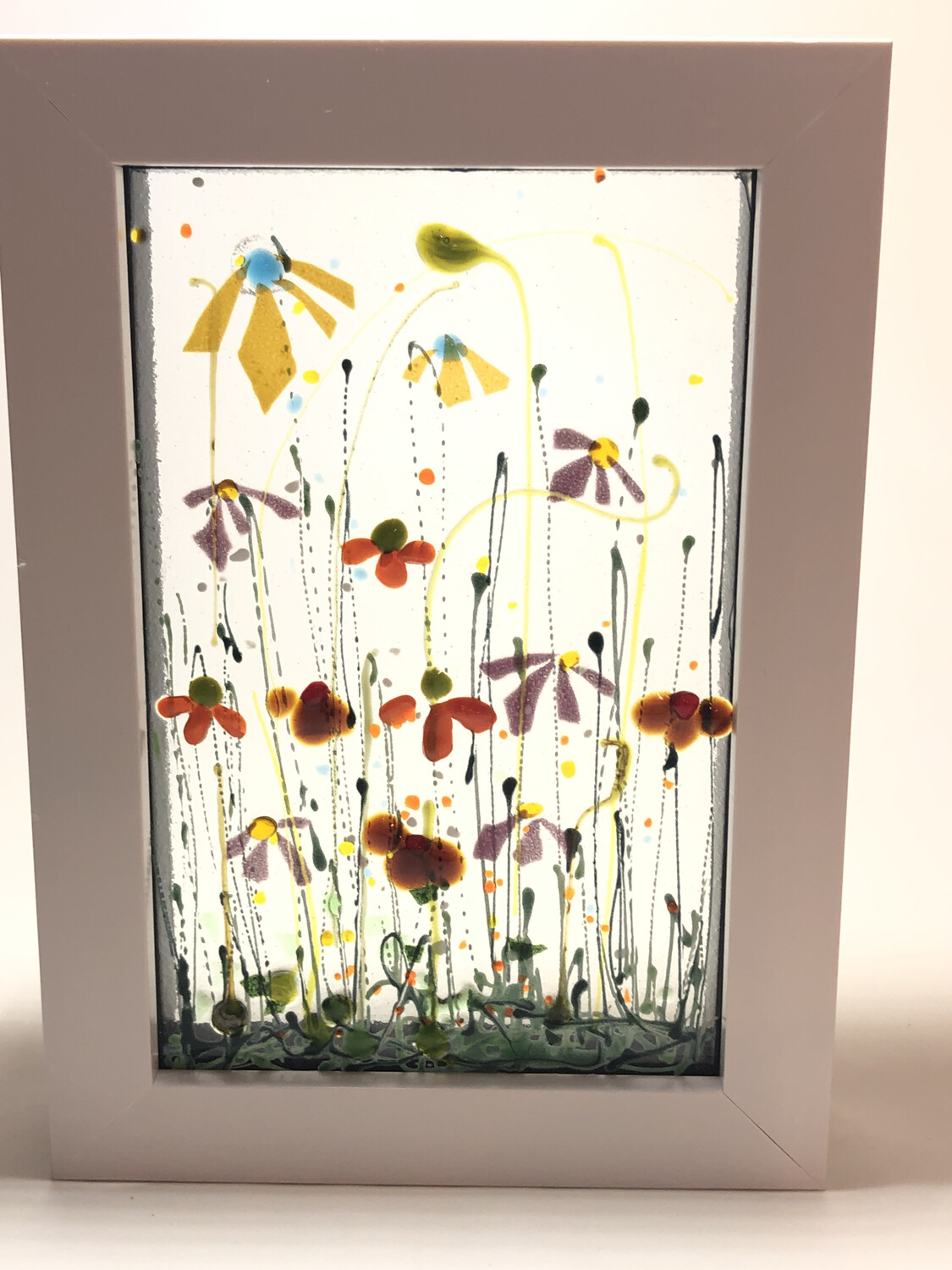 Yellow Orange flowers In Box Frame