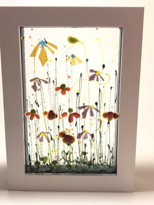 Yellow Orange flowers In Box Frame