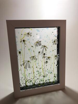 White flowers In Box Frame