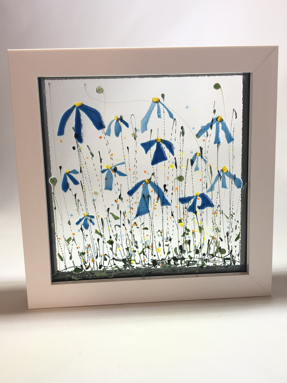 Blue flowers In Box Frame