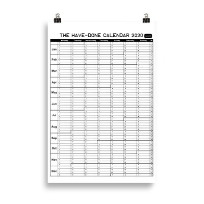 The Have-Done Calendar - Celebrate Your Achievements!