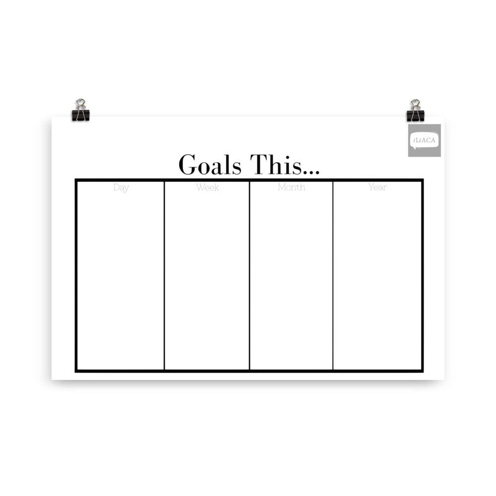 Goal Flow Kanban Poster