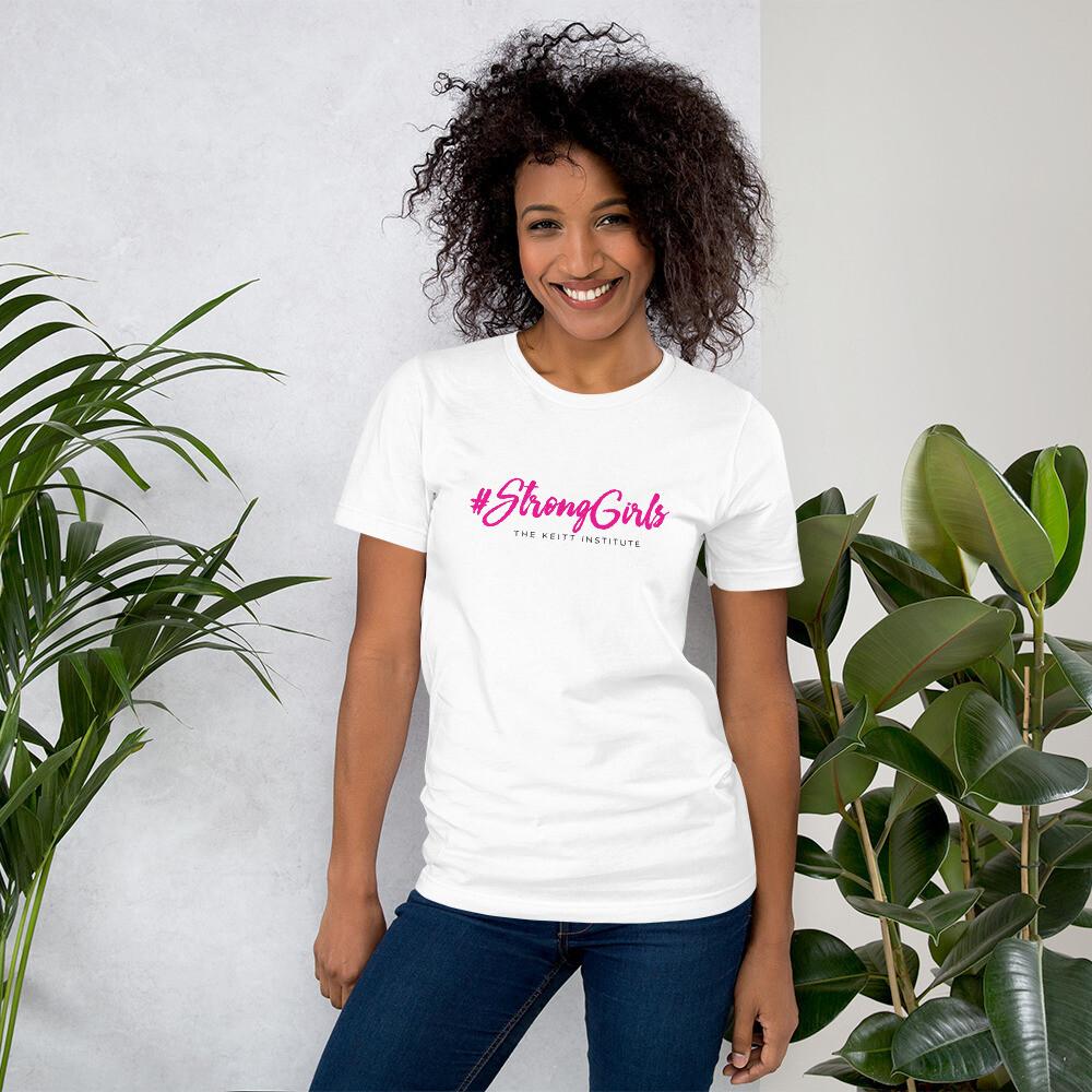 #StrongGirls Pink & Black Logo T-Shirt