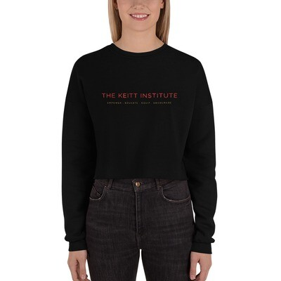 Keitt Institute Red Gold Logo Crop Sweatshirt