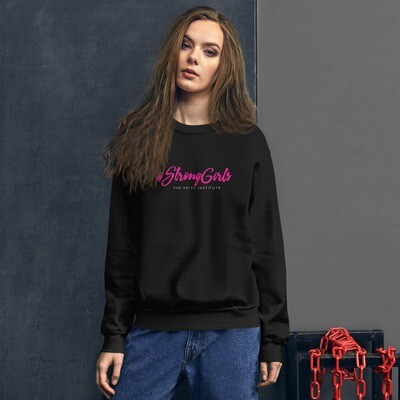 #StrongGirls Pink & White Logo Sweatshirt