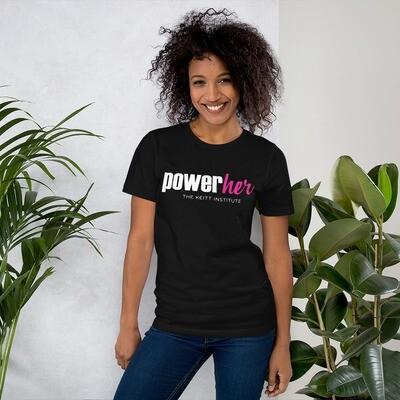 PowerHer Pink & White Logo T-Shirt